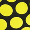 Черный / Желтый горошек