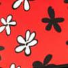 Черный / Красный в цветочек